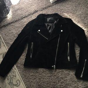 Black suede Blank nyc moto jacket